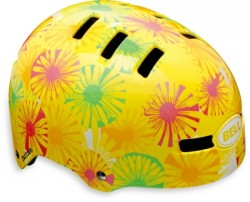 BMX Přilba Bell Faction Yellow Flowers vel. M