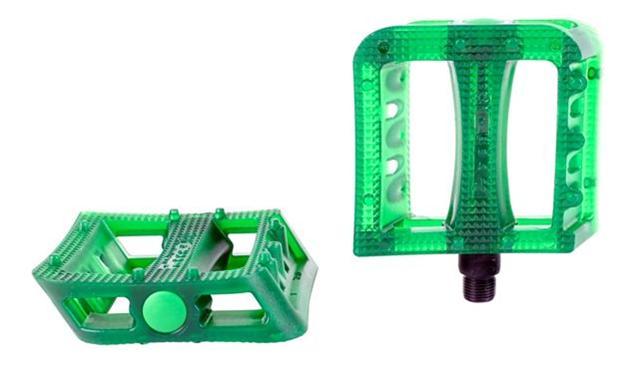 BMX pedály Primo PRO Stricker Plastic BB zelená